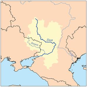Мапа річки дон і сіверський донець